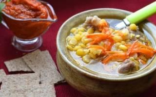 Гороховый суп с говядиной рецепт