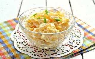 Салат ананасовый с сыром рецепт