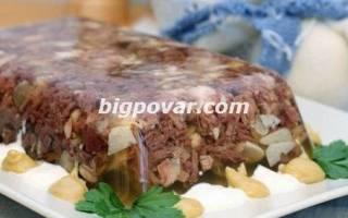 Холодец из говядины и свинины с курицей рецепт