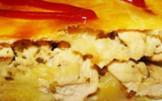 Курник с курицей и картошкой