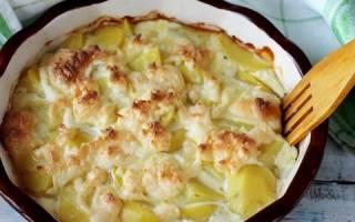 Картошка с чесноком и сметаной в духовке рецепт