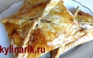 Хачапури с сыром из слоеного теста рецепт