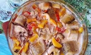 Щука в духовке с картошкой рецепт