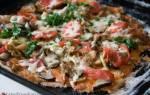 Пицца диетическая на рисовой основе: рецепт с фото