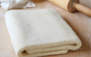 Слоеное тесто на кефире рецепт