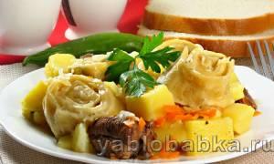 Штрудели с картошкой и мясом