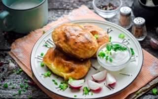 Пирожки с картошкой и фаршем в духовке рецепт