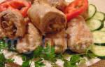 Пальчики из свинины с начинкой
