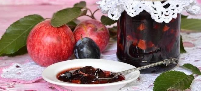 Простое варенье из слив и яблок рецепт