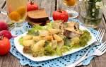 Минтай запеченный в духовке с картошкой рецепт