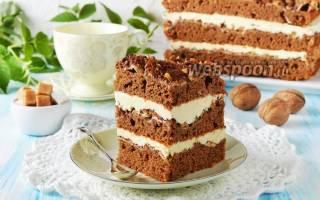 Шоколадно-ореховый торт рецепт