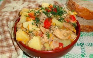 Индейка с картошкой в мультиварке рецепт