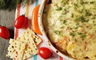 Запеченное мясо с картофелем и сыром рецепт