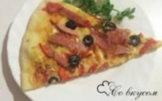 Пицца на тонком тесте в духовке рецепт