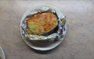 Семга с овощами, запеченная в духовке