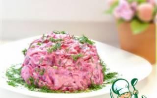 Праздничный салат со свеклой рецепт