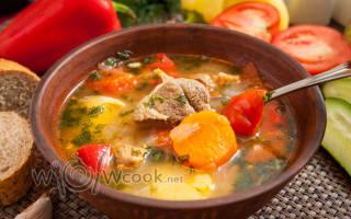Блюда шурпа из баранины рецепт