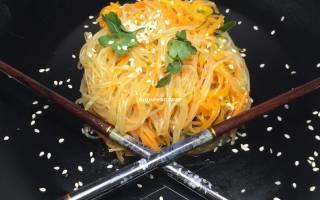 Салат из фунчозы с морковью и болгарским перцем рецепт