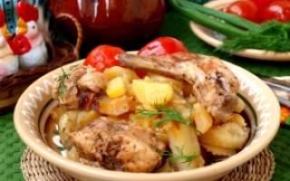 Кролик в горшочках с картошкой рецепт