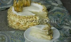 Постный кокосовый торт «Наполеон» рецепт
