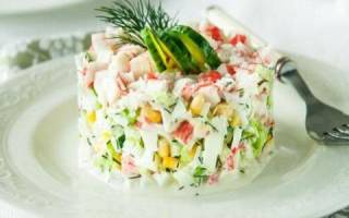 Постный крабовый салат рецепт