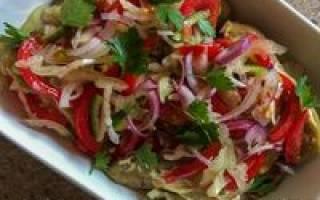 Салат из синеньких рецепт