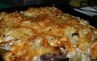 Картошка со свининой в духовке рецепт