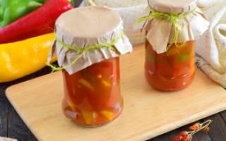 Болгарский перец в томатном соку