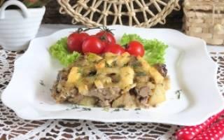 Картошка с печенью в духовке рецепт
