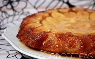 Слоеный пирог с бананами