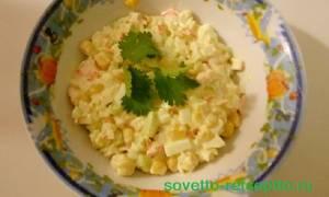 Обычный крабовый салат рецепт