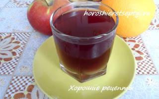 Компот в мультиварке из апельсина, кураги, шиповника, вишни и яблок рецепт