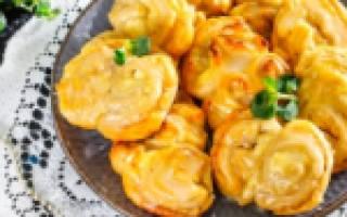 Блюда из готового слоеного бездрожжевого теста рецепт