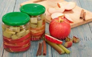 Компот из ревеня и яблок