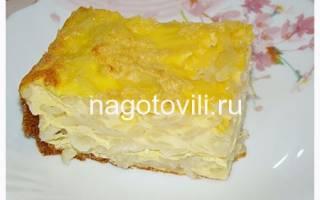 Лапшевник с яйцом рецепт