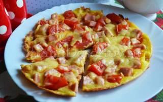Пицца Минутка на сковороде рецепт