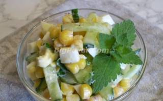 Салат из вареной кукурузы рецепт