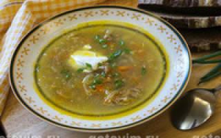 Суп из свинины рецепт