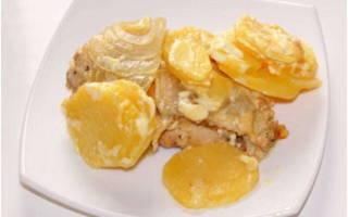 Куриное филе с картошкой в мультиварке рецепт